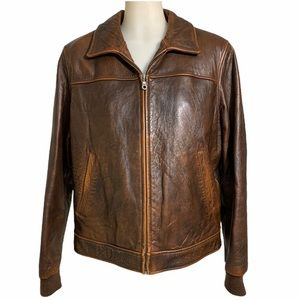 WILSON LEATHER Vintage Thinsulate Brown Jacket -L